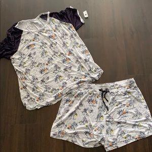 NWT gapbody pajama shorts set Hawaiian beach xl